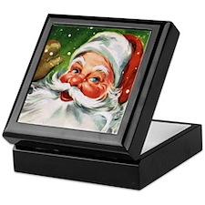 Vintage Santa Face 1 Keepsake Box