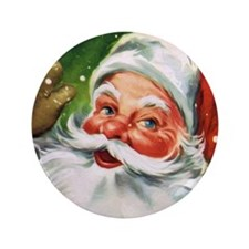 """Vintage Santa Face 1 3.5"""" Button (100 pack)"""