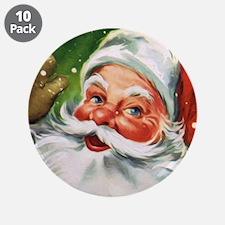 """Vintage Santa Face 1 3.5"""" Button (10 pack)"""