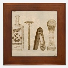 mens barber Framed Tile
