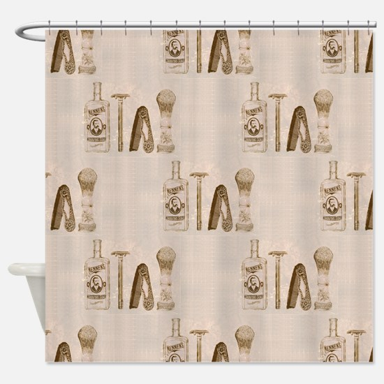 mens barber Shower Curtain
