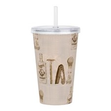 mens barber Acrylic Double-wall Tumbler