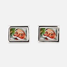 Vintage Santa Face 1 Rectangular Cufflinks