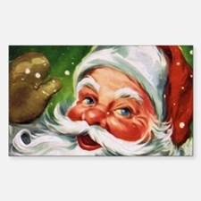 Vintage Santa Face 1 Decal