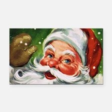 Vintage Santa Face 1 Rectangle Car Magnet