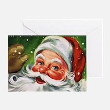 Vintage Santa Face 1 Greeting Cards