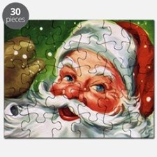 Vintage Santa Face 1 Puzzle