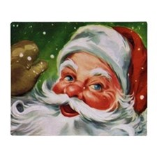 Vintage Santa Face 1 Throw Blanket