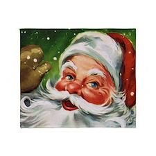 Vintage Santa Face 1 Throw Blanket