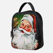 Vintage Santa Face 1 Neoprene Lunch Bag