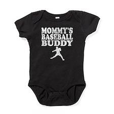 Mommys Baseball Buddy Baby Bodysuit