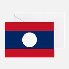 Laos Flag Greeting Card