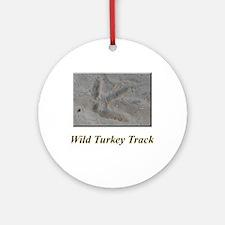 Wild Turkey Track Ornament (Round)
