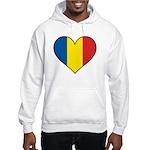 Romanian Heart Hooded Sweatshirt