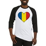 Romanian Heart Baseball Jersey