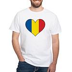 Romanian Heart White T-Shirt