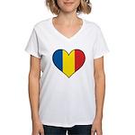 Romanian Heart Women's V-Neck T-Shirt