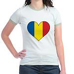 Romanian Heart Jr. Ringer T-Shirt