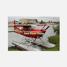 Just plane crazy: float plane 22 Rectangle Magnet