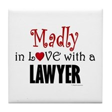 Madly In Love (Lawyer) Tile Coaster