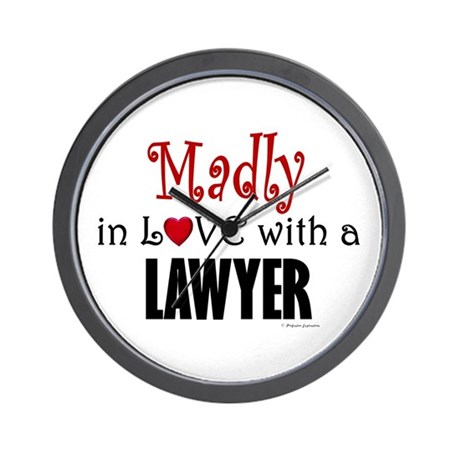 Madly In Love (Lawyer) Wall Clock