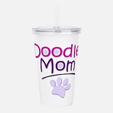 Doodle Mom Acrylic Double-wall Tumbler