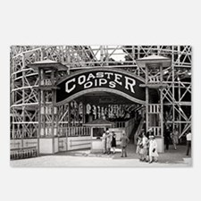 Wooden Roller Coaster, 19 Postcards (Package of 8)