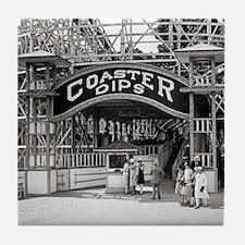 Wooden Roller Coaster, 1926 Tile Coaster