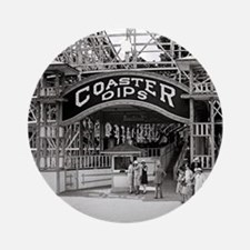 Wooden Roller Coaster, 1926 Round Ornament