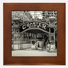 Wooden Roller Coaster, 1926 Framed Tile