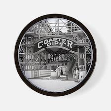 Wooden Roller Coaster, 1926 Wall Clock