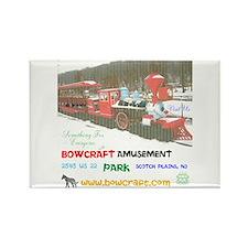 Bowcraft Amusement Park Train. Rectangle Magnets