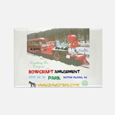 Bowcraft Amusement Park Train. Rectangle Magnets