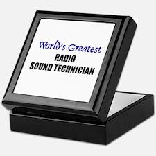 Worlds Greatest RADIO SOUND TECHNICIAN Tile Box
