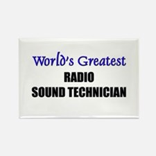 Worlds Greatest RADIO SOUND TECHNICIAN Rectangle M