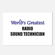 Worlds Greatest RADIO SOUND TECHNICIAN Postcards (