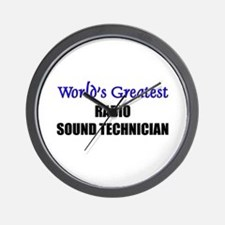 Worlds Greatest RADIO SOUND TECHNICIAN Wall Clock