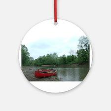 Canoeing Round Ornament