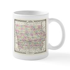 Vintage Map of Iowa (1855) Mugs