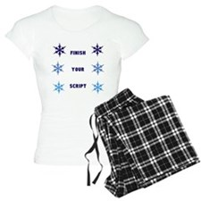FINISH YOUR SCRIPT - snowflakes pajamas
