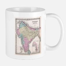 Vintage Map of India (1855) Mugs