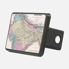 Vintage Map of India (1855 Hitch Cover