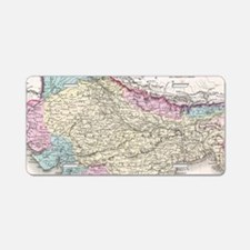 Vintage Map of India (1855) Aluminum License Plate
