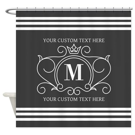 gray victorian stripes shower curtain
