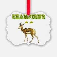 Springbok Rugby Champions Ornament