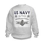 US Navy Friend Defending Kids Sweatshirt