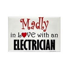 Madly In Love (Electrician) Rectangle Magnet