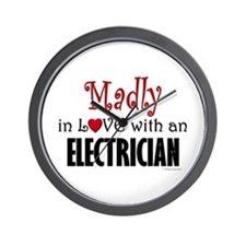 Madly In Love (Electrician) Wall Clock