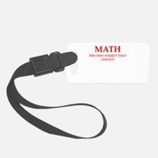 math Luggage Tag