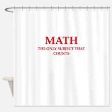 math Shower Curtain
